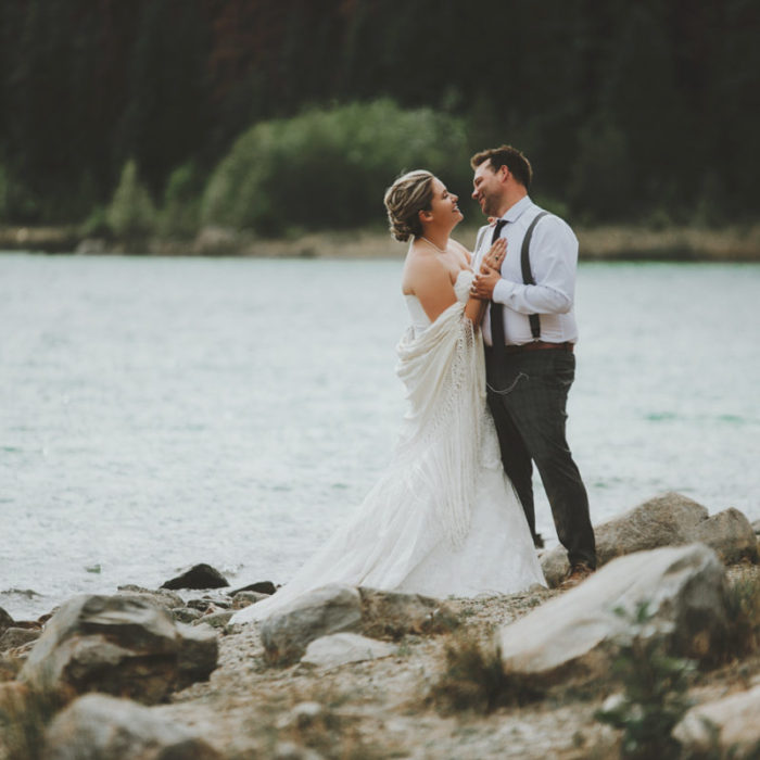 Ashley and Johnathon's Intimate Mountain Wedding at Pyramid Island