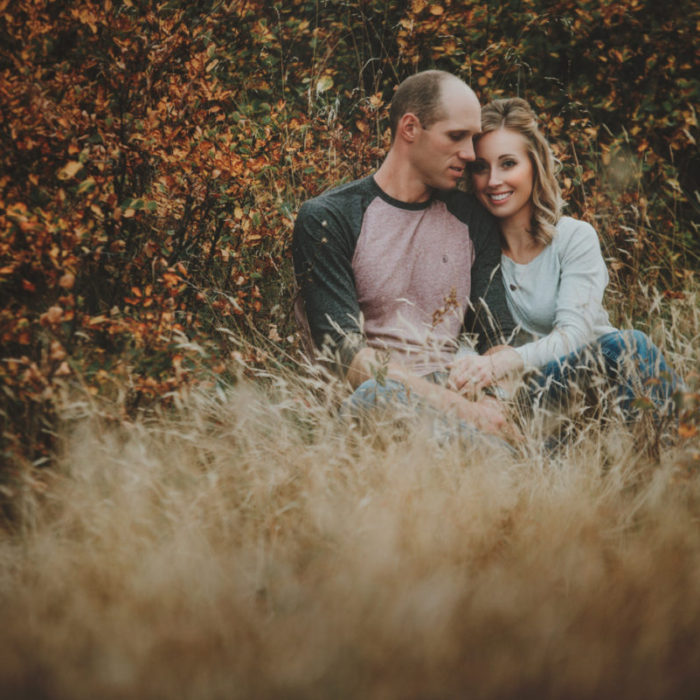 Monika + Kent's Smokey Sunset Engagement Session
