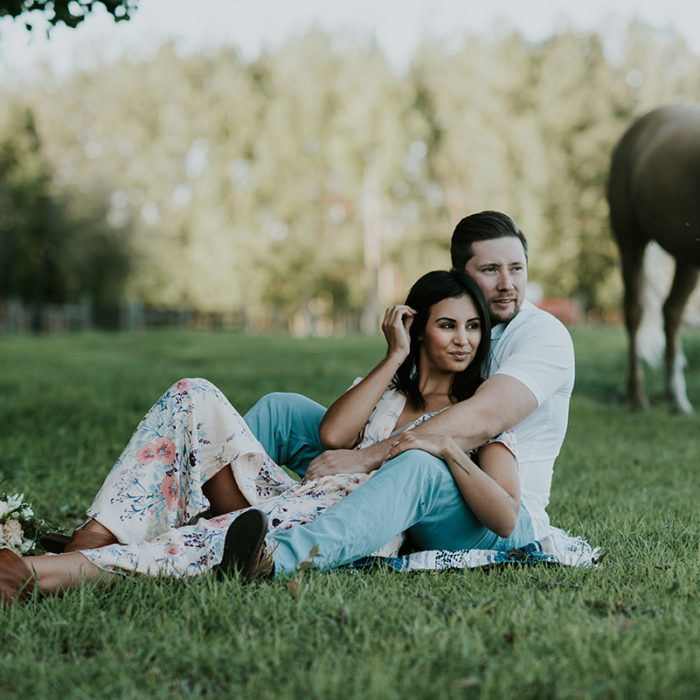 Stephanie and Tucker E-Session in a magical countryside