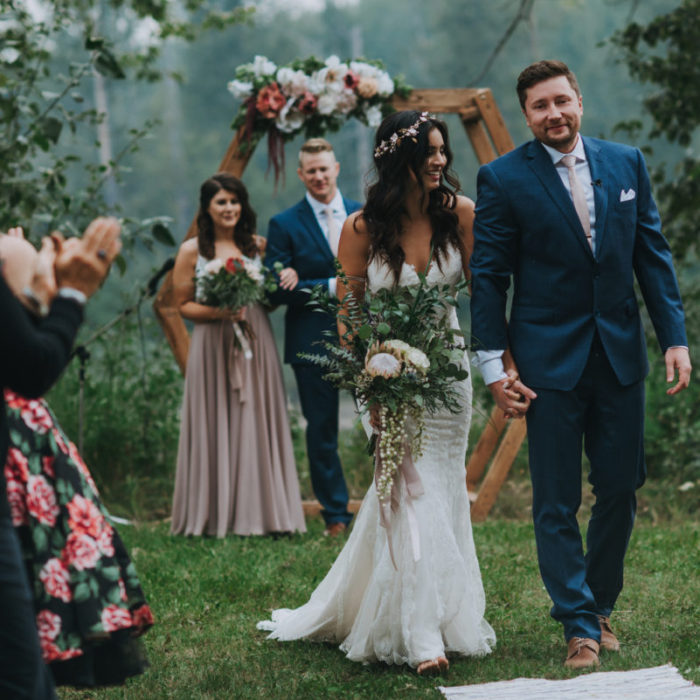 Stephanie + Tucker Boho Wedding In The Meadow