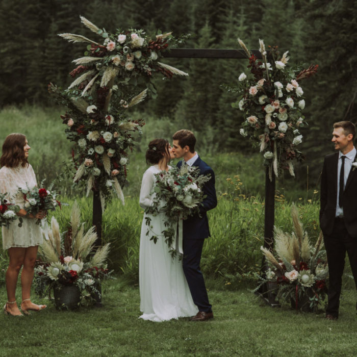 Kayla + Garrett Intimate Boho Woodland Wedding and In Home Reception