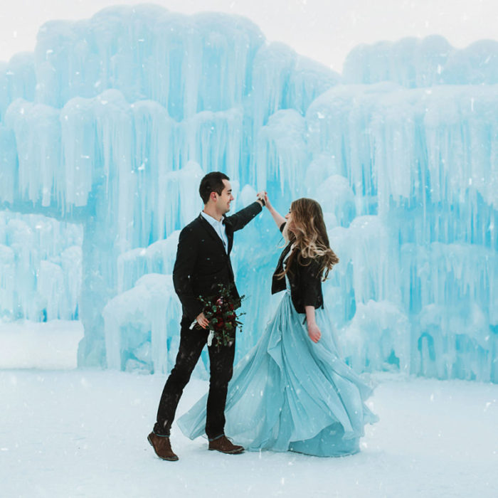 Ice Castle Styled Shoot
