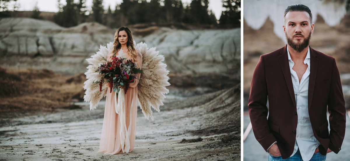 Boho Styled Elopement in the Badlands of Kleskun Hill